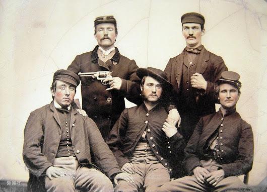 Civil War soldiers, (Circa, 1860's).